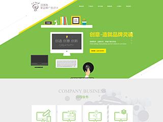 预览广告网站模板的PC端-模板编号:663