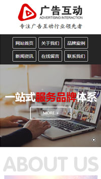 预览广告网站模板的手机端-模板编号:680