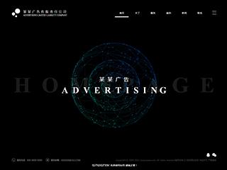 预览广告网站模板的PC端-模板编号:668
