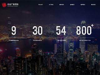 预览广告网站模板的PC端-模板编号:691