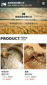 预览农业网站模板的手机端-模板编号:620