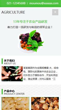 预览农业网站模板的手机端-模板编号:621