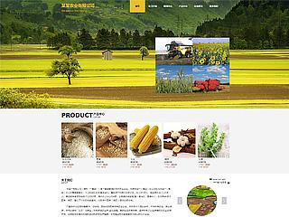 预览农业网站模板的PC端-模板编号:613