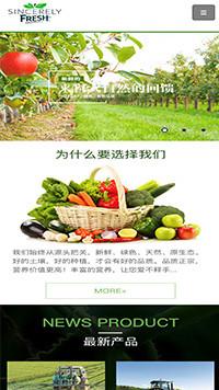 预览农业网站模板的手机端-模板编号:594