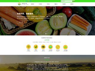 预览农业网站模板的PC端-模板编号:591