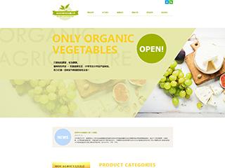 预览农业网站模板的PC端-模板编号:616