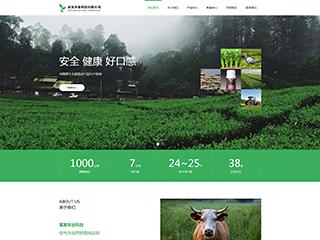 预览农业网站模板的PC端-模板编号:598