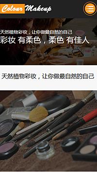 预览美容/护肤网站模板的手机端-模板编号:798