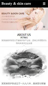 预览美容/护肤网站模板的手机端-模板编号:808