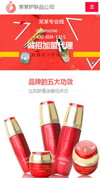 预览美容/护肤网站模板的手机端-模板编号:811