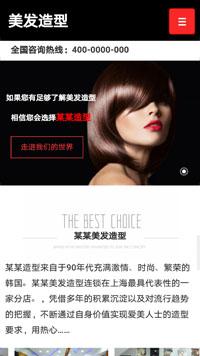 预览美容/护肤网站模板的手机端-模板编号:795