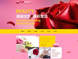 预览美容/护肤网站模板的PC端-模板编号:802