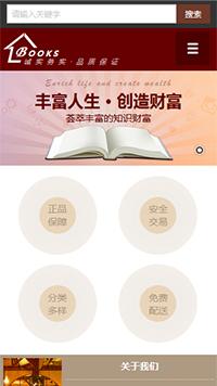预览文教/书籍网站模板的手机端-模板编号:820