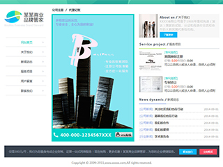 预览商业网站模板的PC端-模板编号:294