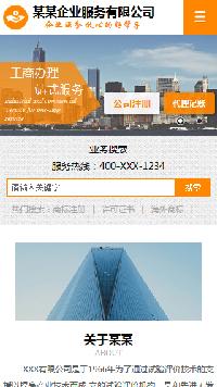 预览商业网站模板的手机端-模板编号:303
