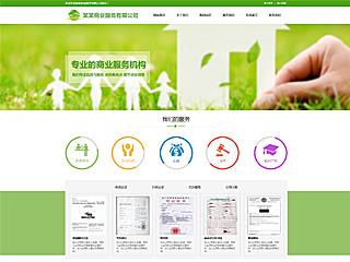 预览商业网站模板的PC端-模板编号:276