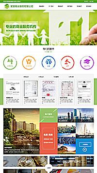 预览商业网站模板的手机端-模板编号:276