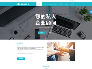 预览商业网站模板的PC端-模板编号:296