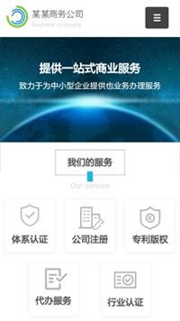 预览商业网站模板的手机端-模板编号:304