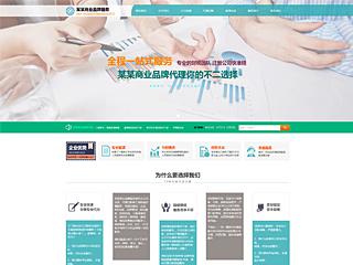 预览商业网站模板的PC端-模板编号:302