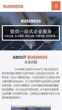 预览商业网站模板的手机端-模板编号:305