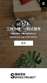 预览商业网站模板的手机端-模板编号:291