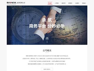 预览商业网站模板的PC端-模板编号:292