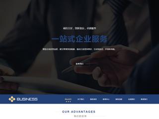 预览商业网站模板的PC端-模板编号:287