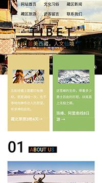 预览文化网站模板的手机端-模板编号:1062