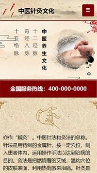 预览文化网站模板的手机端-模板编号:1058
