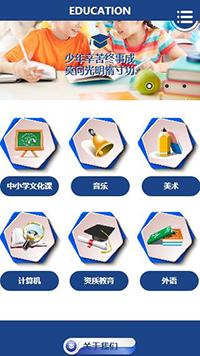 预览教育/培训网站模板的手机端-模板编号:1154