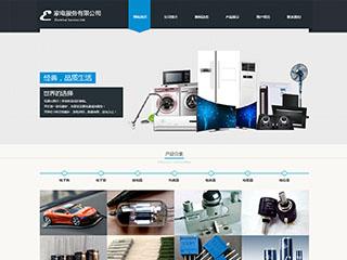 预览电子/电气网站模板的PC端-模板编号:1271