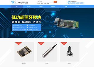 预览电子/电气网站模板的PC端-模板编号:1258