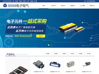 预览电子/电气网站模板的PC端-模板编号:1260