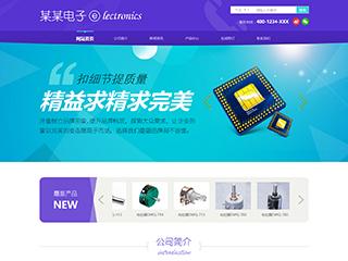 预览电子/电气网站模板的PC端-模板编号:1285