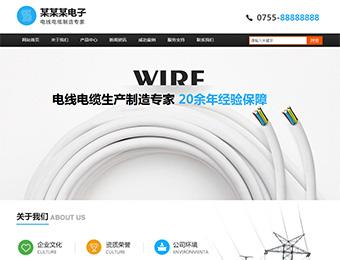 预览电子/电气网站模板的PC端-模板编号:1263