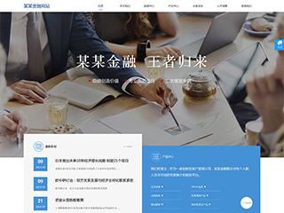 预览金融/投资网站模板的PC端-模板编号:1554