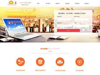 预览金融/投资网站模板的PC端-模板编号:1549
