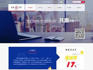 预览金融/投资网站模板的PC端-模板编号:1546