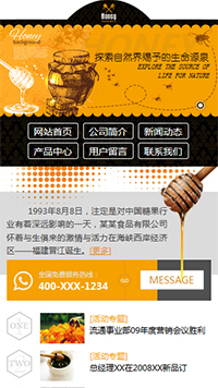 预览食品网站模板的手机端-模板编号:1670