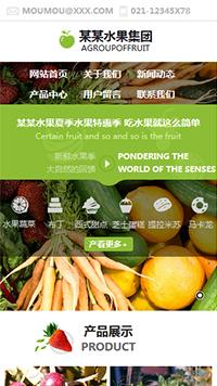 预览食品网站模板的手机端-模板编号:1657