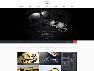 预览眼镜网站模板的PC端-模板编号:1707