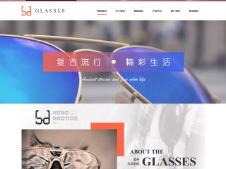 预览眼镜网站模板的PC端-模板编号:1719