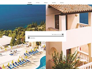 预览酒店网站模板的PC端-模板编号:1782