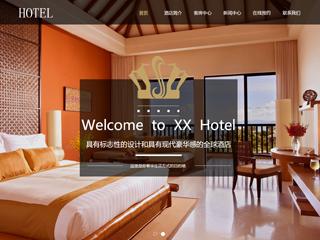 预览酒店网站模板的PC端-模板编号:1808