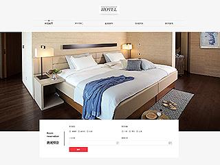 预览酒店网站模板的PC端-模板编号:1787