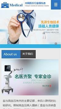预览医疗/保健网站模板的手机端-模板编号:2164