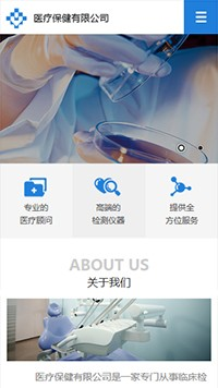 预览医疗/保健网站模板的手机端-模板编号:2152
