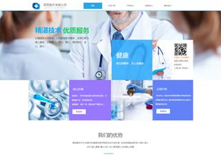 预览医疗/保健网站模板的PC端-模板编号:2141