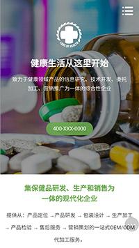 预览医疗/保健网站模板的手机端-模板编号:2166